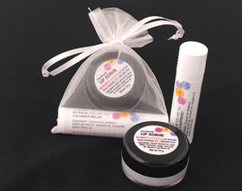 Card image lip scrub balm combo   peppermint