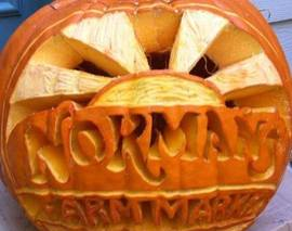 Card image carving pumpkin normans