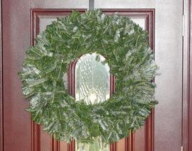 Card image natural undecorated christmas wreath