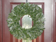 Small natural undecorated christmas wreath