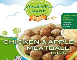 Card image chicken apple meatballs