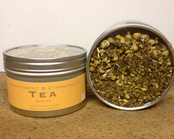 Market card peppermint   chamomile herb tea