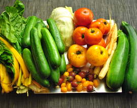 Card image rainbow veg