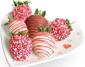 Card image 6 assorted chocolate covered strawberries
