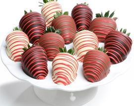 Card image 12 assorted chocolate covered strawberries