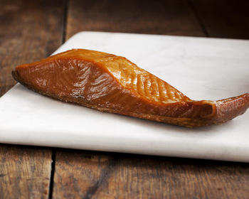Market card smoked wild keta salmon portion   northwest blend