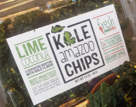 Card image lime coconut kale chips