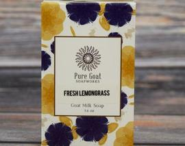 Card image fresh lemongrass goat milk soap grande