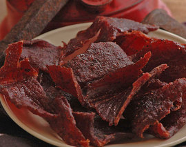 Card image 8oz peppered beef jerky