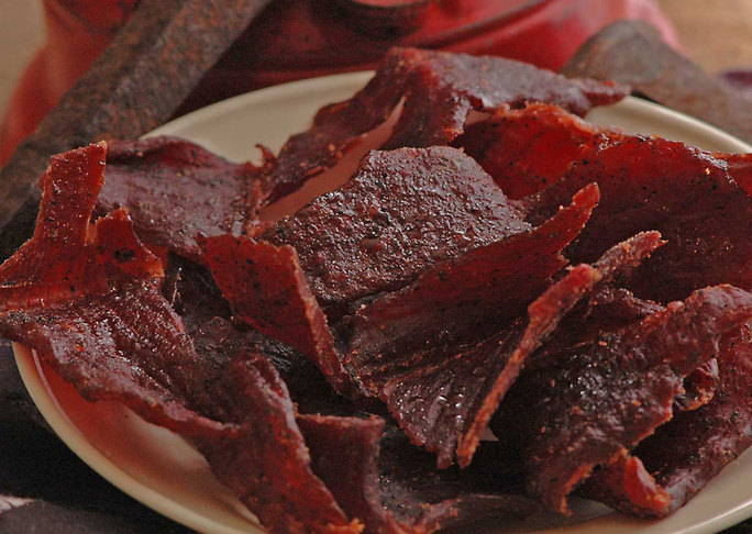 Details 8oz peppered beef jerky