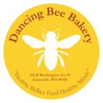 Square dancing bee bakery label 4