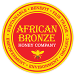 Square african bronze seal with bee   outlines 150 px